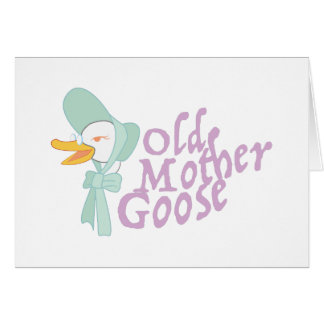 Old Mother Goose Card