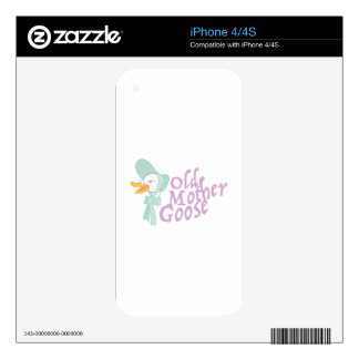 Old Mother Goose Skins For iPhone 4