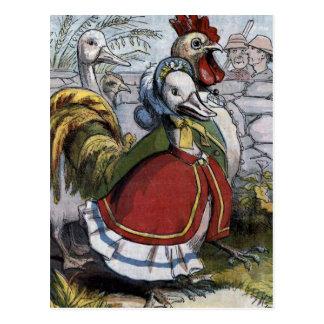 """""""Old Mother Goose"""" Vintage Illustration Postcard"""
