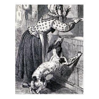 """""""Old Mother Hubbard"""" Vintage Illustration Postcard"""