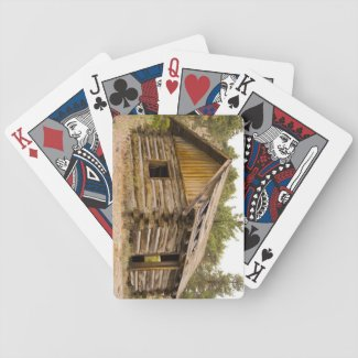 Old Mountain Cabin Bicycle Playing Cards