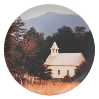 Old Mountain Church Party Plate