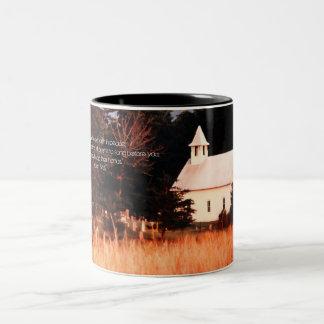 Old Mountain Church Two-Tone Coffee Mug