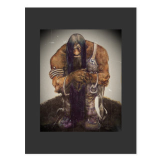 Old Mountain Troll with Chains Postcard