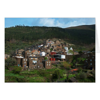 Old moutain village in Portugal Card
