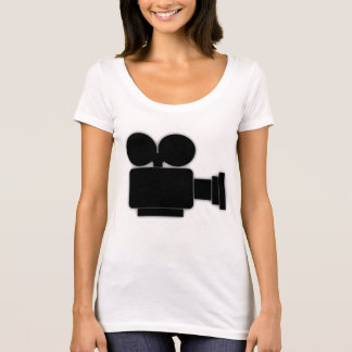 OLD MOVIE CAMERA Scoop Neck T-Shirt
