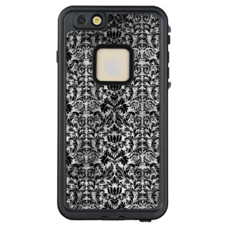 Old Movie Style Black White Damask Aged Pattern LifeProof FRĒ iPhone 6/6s Plus Case