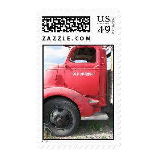 """""""Old Murphy"""" Red Truck Postage Stamp"""