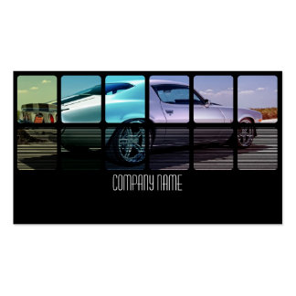 Old Muscle Car in Different Double-Sided Standard Business Cards (Pack Of 100)