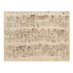 Old Music Notes Bach Music Sheet Fabric Zazzle Com