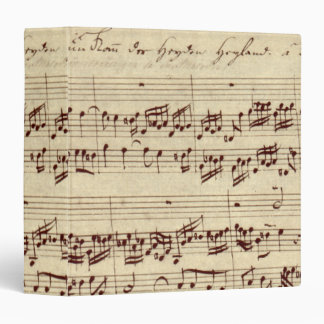 Old Music Notes - Bach Music Sheet Binder