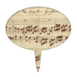 Old Music Notes - Bach Music Sheet Cake Topper