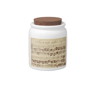 Old Music Notes - Bach Music Sheet Candy Dishes