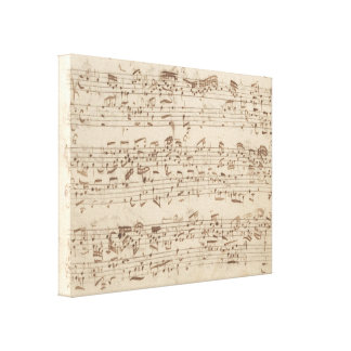 Old Music Notes - Bach Music Sheet Gallery Wrapped Canvas