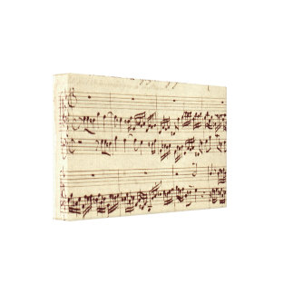 Old Music Notes - Bach Music Sheet Canvas Print