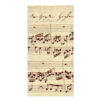 Old Music Notes - Bach Music Sheet Card