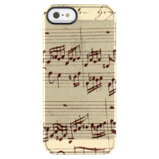 Old Music Notes - Bach Music Sheet Clear iPhone SE/5/5s Case