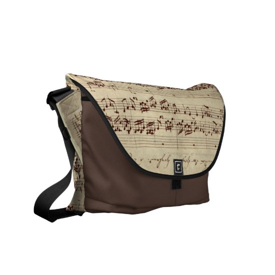 Old Music Notes - Bach Music Sheet Courier Bag