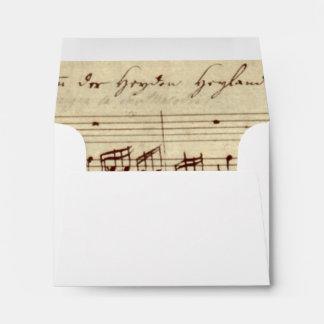 Old Music Notes - Bach Music Sheet Envelope
