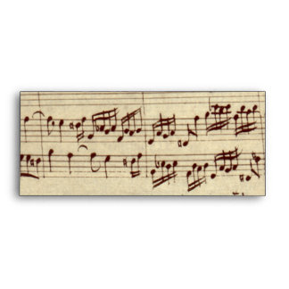 Old Music Notes - Bach Music Sheet Envelopes