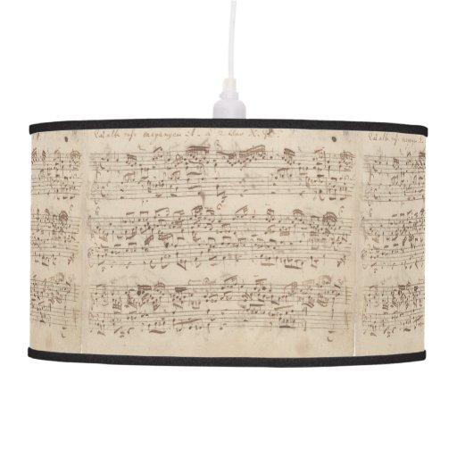 Old Music Notes - Bach Music Sheet Hanging Lamp