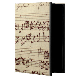 Old Music Notes - Bach Music Sheet iPad Air Case
