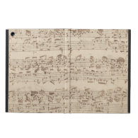 Old Music Notes - Bach Music Sheet iPad Air Covers