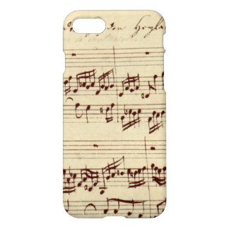 Old Music Notes - Bach Music Sheet iPhone 8/7 Case