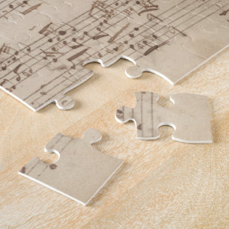 Old Music Notes - Bach Music Sheet Jigsaw Puzzle