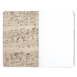 Old Music Notes - Bach Music Sheet Journal