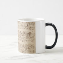 Old Music Notes - Bach Music Sheet Magic Mug