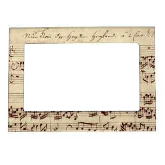 old music notes bach music sheet magnetic photo frame - Music Note Picture Frame