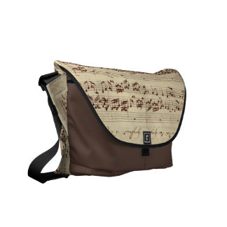 Old Music Notes - Bach Music Sheet Courier Bags