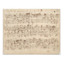 Old Music Notes - Bach Music Sheet