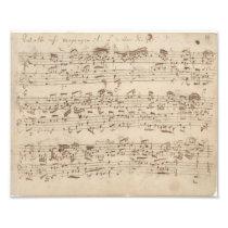 Old Music Notes - Bach Music Sheet Photo Print
