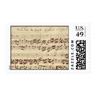 Old Music Notes - Bach Music Sheet Postage