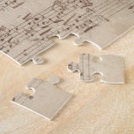 Old Music Notes - Bach Music Sheet Puzzle