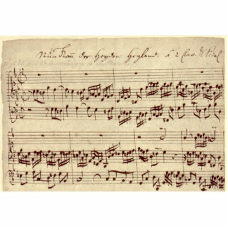 Old Music Notes - Bach Music Sheet Statuette
