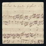 "Old Music Notes - Bach Music Sheet Stone Coaster<br><div class=""desc"">Old music sheet of Johann Sebastian Bach. Original musical notation of this famous classical composer.</div>"
