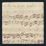 "Old Music Notes - Bach Music Sheet Stone Coaster<br><div class=""desc"">Old music sheet of Johann Sebastian Bach. Original musical notation of this famous classical composer.</div>"