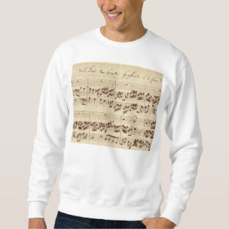 Old Music Notes - Bach Music Sheet Sweatshirt