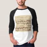 Old Music Notes - Bach Music Sheet T-Shirt