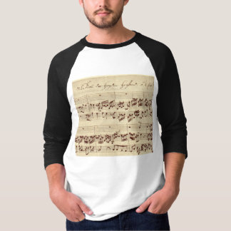 Old Music Notes - Bach Music Sheet T Shirt