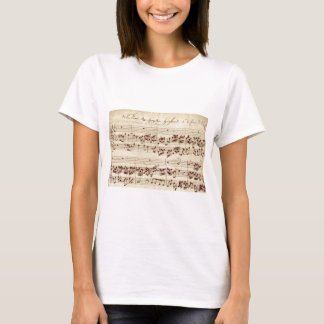 Old Music Notes - Bach Music Sheet T-Shirt