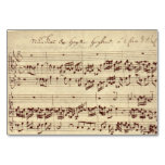 Old Music Notes - Bach Music Sheet Table Cards