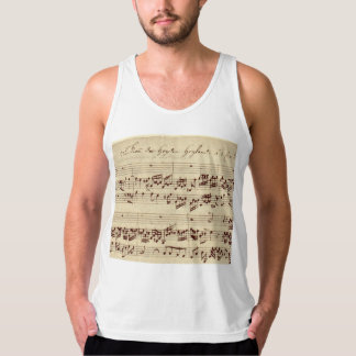Old Music Notes - Bach Music Sheet Tank Top
