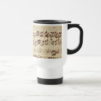 Old Music Notes - Bach Music Sheet Travel Mug