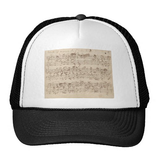 Old Music Notes - Bach Music Sheet Trucker Hat