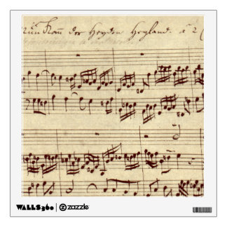 Old Music Notes - Bach Music Sheet Wall Sticker