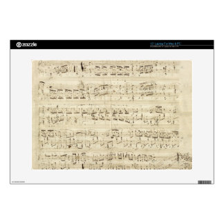 "Old Music Notes - Chopin Music Sheet 15"" Laptop Skin"